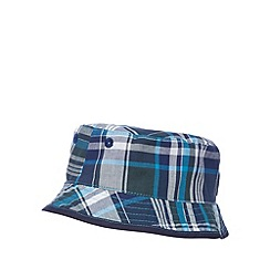 RJR.John Rocha - Designer babies navy checked bucket hat