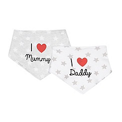 bluezoo - Babies I Love pack of two white dribble bibs