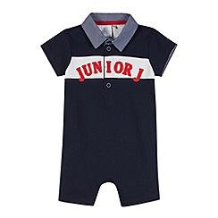 J by Jasper Conran - Designer babies navy applique romper suit