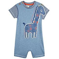 RJR.John Rocha - Designer babies blue giraffe romper suit