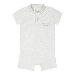 RJR.John Rocha - Designer babies grey quilted romper suit