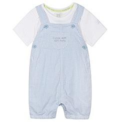RJR.John Rocha - Designer babies blue gingham dungarees and t-shirt set