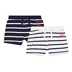 J by Jasper Conran - Designer pack of two babies navy striped shorts