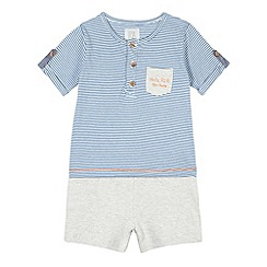 RJR.John Rocha - Designer babies navy striped t-shirt and shorts set