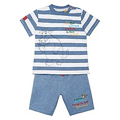 The Gruffalo - Boy's blue striped t-shirt and shorts set