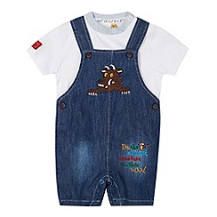 The Gruffalo - Babies blue denim dungaree shorts and t-shirt