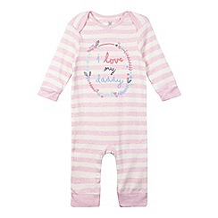 bluezoo - Babies pink 'I love Daddy' sleepsuit