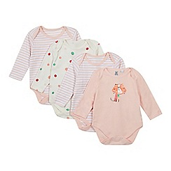 bluezoo - Pack of four babies coral bodysuit