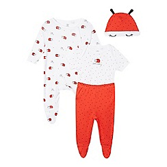 bluezoo - Babies red ladybird four piece starter set