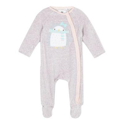 bluezoo Baby girls pink sleepsuit