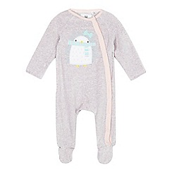 bluezoo - Baby girls' pink sleepsuit
