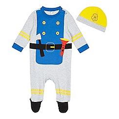 bluezoo - Baby boys' 'Little Hero' sleepsuit and hat set