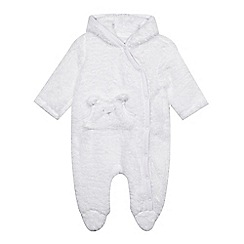 bluezoo - Babies cream fleece all-in-one suit