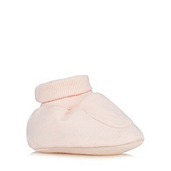 bluezoo - Pack of two babies pink plain and striped booties