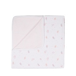 bluezoo - Babies light pink bunny printed jersey blanket
