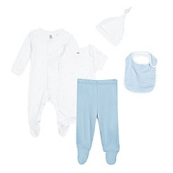 bluezoo - Five piece blue star printed baby starter pack