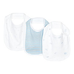 bluezoo - Pack of three babies blue star and transport printed bibs