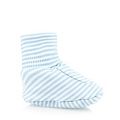 bluezoo - Pack of two babies blue plain and striped booties