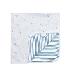 bluezoo - Babies blue vehicle print jersey blanket