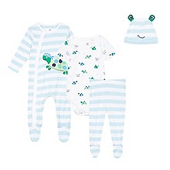 bluezoo - Babies blue turtle applique starter set