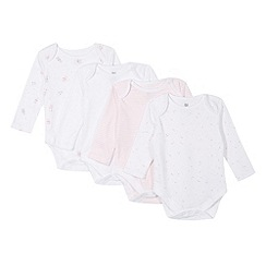 bluezoo - Pack of four babies white long sleeved bodysuits