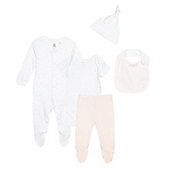 bluezoo - Five piece pink hearts printed baby starter pack