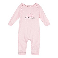 bluezoo - Babies light pink 'Little Princess' sleepsuit