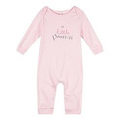 bluezoo - Babies light pink 'Little Princess' sleepsuit