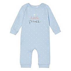 bluezoo - Babies light blue 'Little Prince' sleepsuit