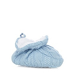 bluezoo - Baby boys' light blue knitted booties
