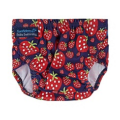 Konfidence - Baby girls' purple strawberry 'AquaNappy' swimming nappy