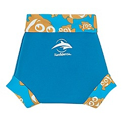 Konfidence - Boy's blue fish 'AquaNappy' swimming nappy
