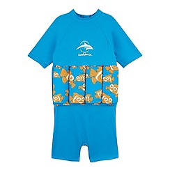 Konfidence - Boy's blue clown fish t-shirt float suit