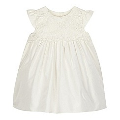 RJR.John Rocha - Baby girls' ivory silk lace detail dress