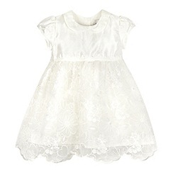 RJR.John Rocha - Baby girls' ivory silk floral dress