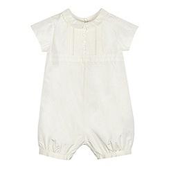 RJR.John Rocha - Baby boys' ivory silk romper suit