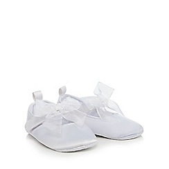 RJR.John Rocha - White silk bow ballet pumps