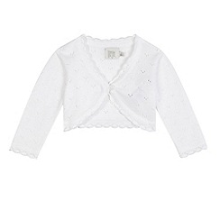 RJR.John Rocha - Baby girls' white cardigan