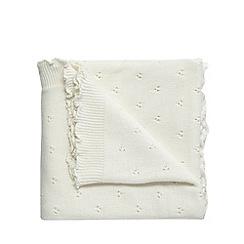 RJR.John Rocha - Cream Christening blanket