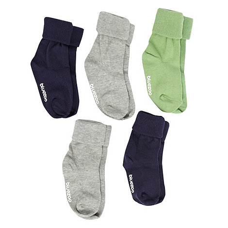 bluezoo - Babies pack of five triple roll socks