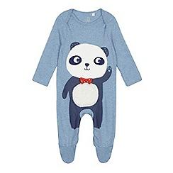 bluezoo - Baby boys' light blue panda sleepsuit