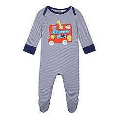 bluezoo - Baby boys' blue animal sleepsuit