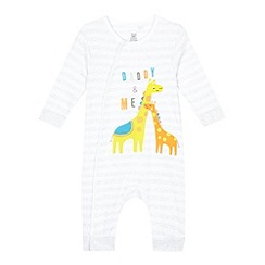 bluezoo - Babies' grey 'Daddy and me' sleepsuit
