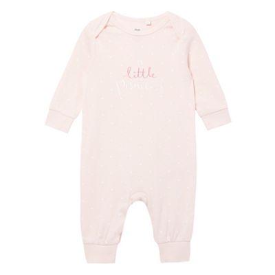 bluezoo Baby girls star print Little Princess sleepsuit