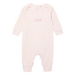 bluezoo - Baby girls' star print 'Little Princess' sleepsuit