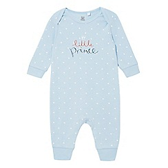 bluezoo - Baby boys' star print 'Little Prince' sleepsuit