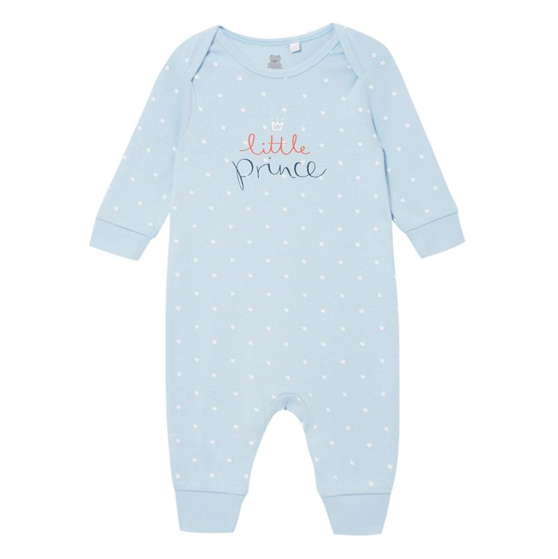 bluezoo Baby boys star print Little Prince sleepsuit