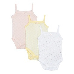 bluezoo - Pack of three baby girls' assorted bodysuits