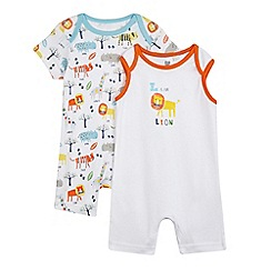 bluezoo - Pack of two boys' lion romper