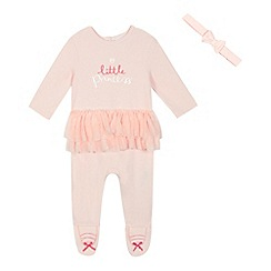 bluezoo - Baby girls' pink tutu sleepsuit and headband
